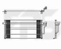 Радиатор кондиционера Mitsubishi (Мицубиси) COLT 92-96 (CA0)/LANCER VII 92-95 производитель HELLA