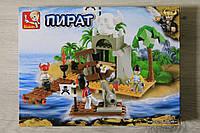 Конструктор Пираты тм Sluban 142дет