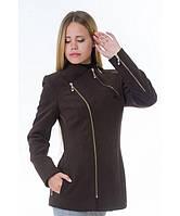 Пальто женское модель №5 змейка шоколадное (весна/осень), р.42-48