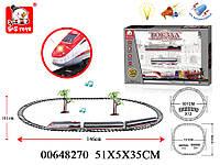Детская железная дорога, игрушка со звуковыми и световыми эффектами, из серии Вокзал. Железная дорога 00648270