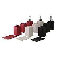 "Набор аксессуаров в ванную комнату ""Black/Red/White"""