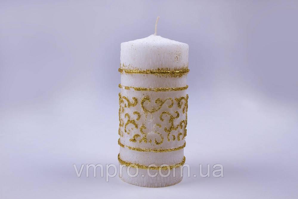 Свечи большие золото 67×135 мм, 18 часов