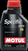 Синтетическое моторное масло Motul Specific 229.52 5W-30 1л