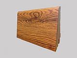 Плинтус МДФ для пола ламинированный под дерево Дуб Родос Темний 21*80*2800, темно-коричневый матовый, фото 2