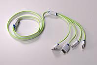 Универсальный USB кабель 4 in 1, зеленый