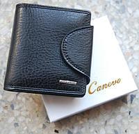 Мужской бумажник Canevo. Мужской кошелек. Портмоне с экокожи. Стильный мужской кошелек.