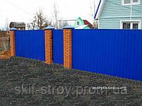 Профнастил ПС10 синий, вишневый, коричневый, фото 4