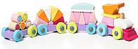 Деревянная игрушка Левеня Cubika Поезд LP-2 (11889)