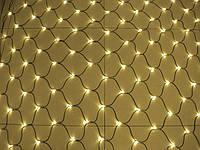Гирлянда сетка электрическая жёлтая 1,5 м *1,5 м