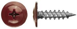 Саморез по металлу с пресс-шайбой острый 4,2х16 крашенный  RAL3005 (упаковка 1000 шт.)