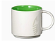 Керамическая чашка Starbucks white\green, фото 2