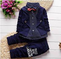Костюм для мальчика рубашка с бабочкой и штаны