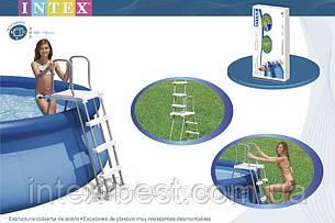 Лестница для бассейна Intex 58971 (28074) (122-132 см.), фото 2