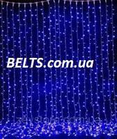 Гирлянда Водопад 240 LED размер 2*1 м голубая (waterfall light)