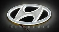 Эмблема хундай, светящаяся задняя эмблема Hyundai 4D