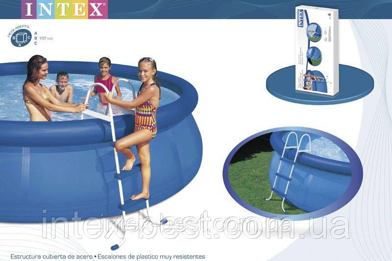 Лестница для надувных и каркасных бассейнов высотой 91см Intex 58972