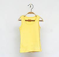 Желтая майка для девочек р. 92