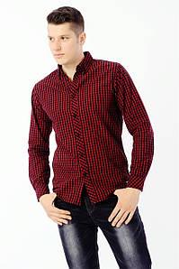 Рубашка с длинным рукавом мужская E-BOUND E-BOUND A126534 BURGUNDY CHECK