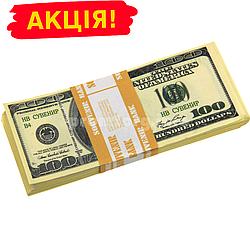 """Сувенірні гроші 100$ долар сувенірний Старого зразка"""" упаковка 80 купюр"""