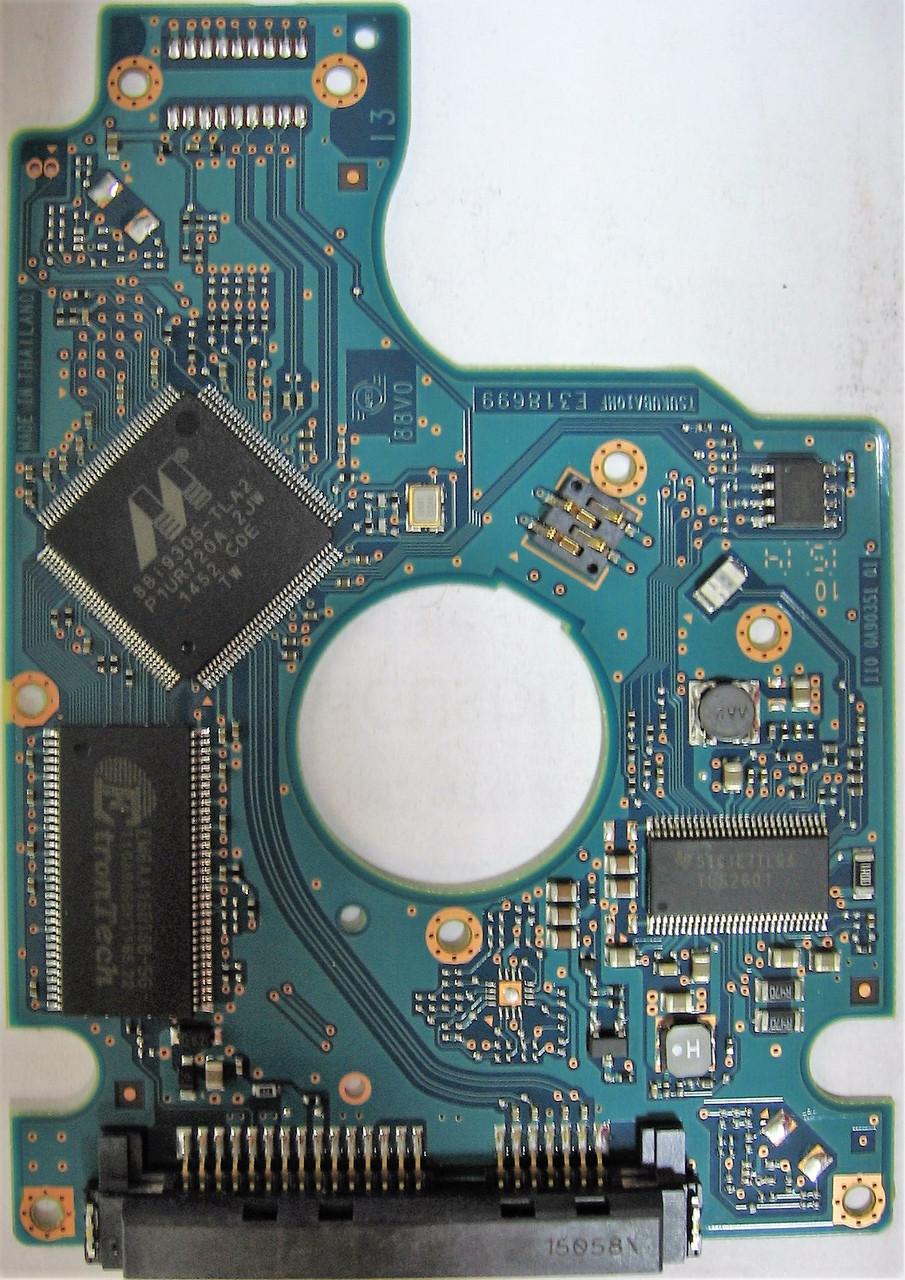 Плата HDD 500GB 7200rpm 32MB SATA III 2.5 Hitachi HTS725050A7E630 0A90351