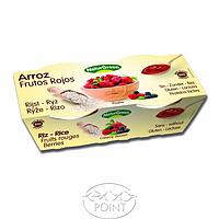 Органический растительный десерт из риса с красными фруктами, 125гр х 2 шт, NaturGreen (8437011502308)