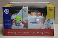 Скорая помощь музыкальная игрушка на батарейках в коробке для детей 3 +