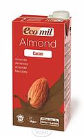 Органическое миндальное молоко с сиропом агавы и какао, 1 л, EcoMil (8428532210124)