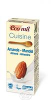 Органические растительные сливки для приготовления из миндаля, 200 мл, EcoMil (8428532230047)