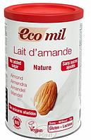 Органическое растительное сухое молоко из миндаля без сахара, 400 г, EcoMil (8428532160627)