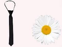 Черный детский галстук для школьников artdt1-004