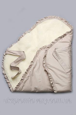"Конверт-одеяло зимний на меху ""Сказка"" бежевый, фото 2"