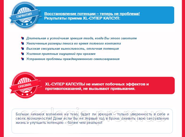 СУПЕР КАПСУЛЫ XL 2 капсулы - УВЕЛИЧЕНИЕ потенции и лечение ...