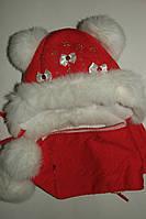 Комплект шапка и шарф на девочку зимний.