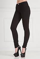 Утепленные женские брюки в черном цвете  заужены к низу