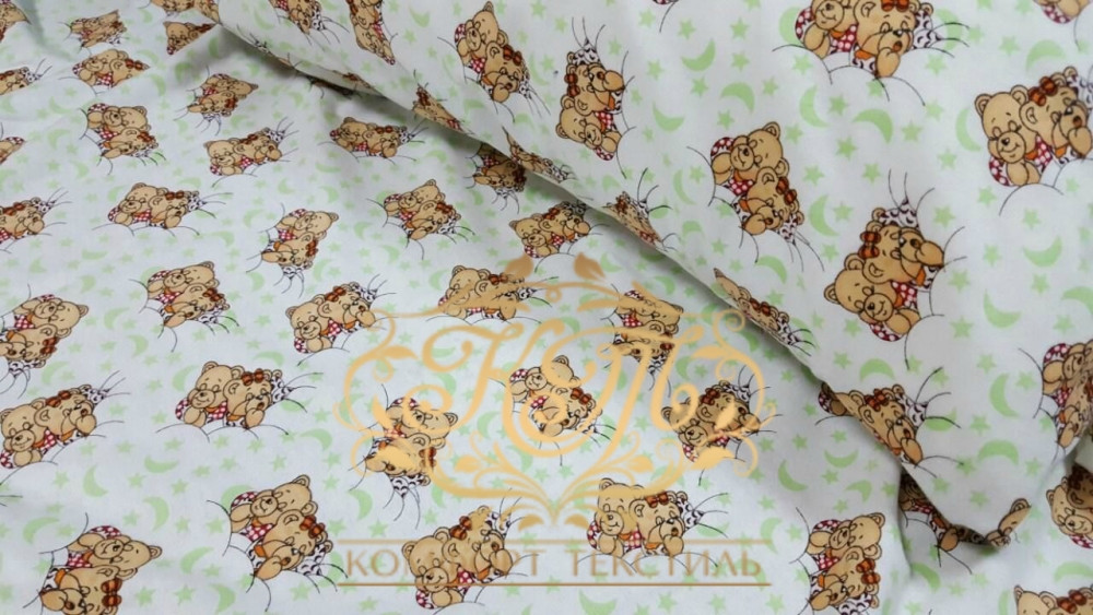 Постельное белье из фланели в кроватку Милашки