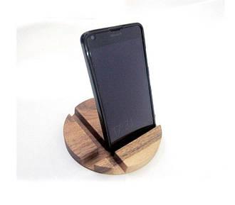 Деревянная подставка для смартфона или планшета Круг