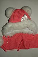 Комплект теплый,шапка и шарф на девочку зимний.