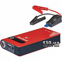 Автономное пуско-зарядное устройство Einhell CC-JS 8 (8 Ач, 12 В, старт до 400 А) с USB (5 В / 2 А), фонариком, переходниками для зарядки портативной