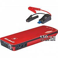 Автономное пуско-зарядное устройство Einhell CC-JS 18 (18 Ач, 12 В, старт до 600 А) с USB (5 В / 1+2 А), 12 В / 10 А, 19 В / 3,5 А, фонариком, переход