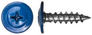 Саморез по металлу с пресс-шайбой острый 4,2х16 крашенный  RAL5005 (упаковка 1000 шт.)