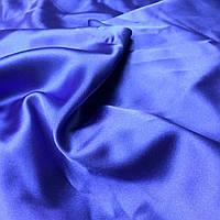 Атлас электрик синий мягкий легко драпируется кусок 3.5*1.40