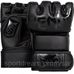 Перчатки MMA Venum Undisputed 2.0 Semi Leather Matte Black