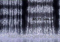Разноцветная Гирлянда Водопад 320 LED размер 3*2 новогодняя (waterfall light)