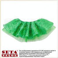Детская юбка зеленая Ёлочка карнавальная