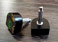 Набойки п/у на штыре SUPERTOP, р. 8*8мм толщина штыря 2.9 мм, цв. черный