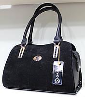 Сумка женская классическая каркасная LUCK SHERRYS  Замшевая 17-2115-3