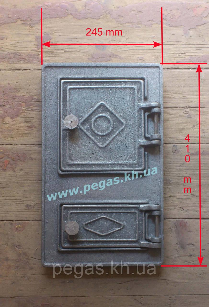 Дверка чугунная спаренная (245х410 мм)