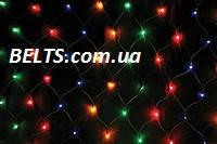 Разноцветная гирлянда сетка 600 LED (сетка-гирлянда размер 2*2м)