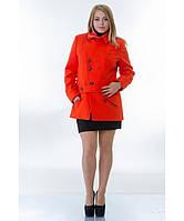 Пальто женское модель №40 оранжевое(два варианта:весна, зима с утеплением), р.44-54