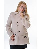 Пальто женское модель №40 бежевое(два варианта:весна, зима с утеплением), р.44-54